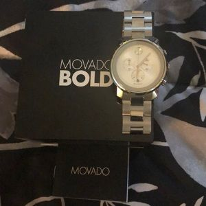 Authentic Movado Bold Silver Watch